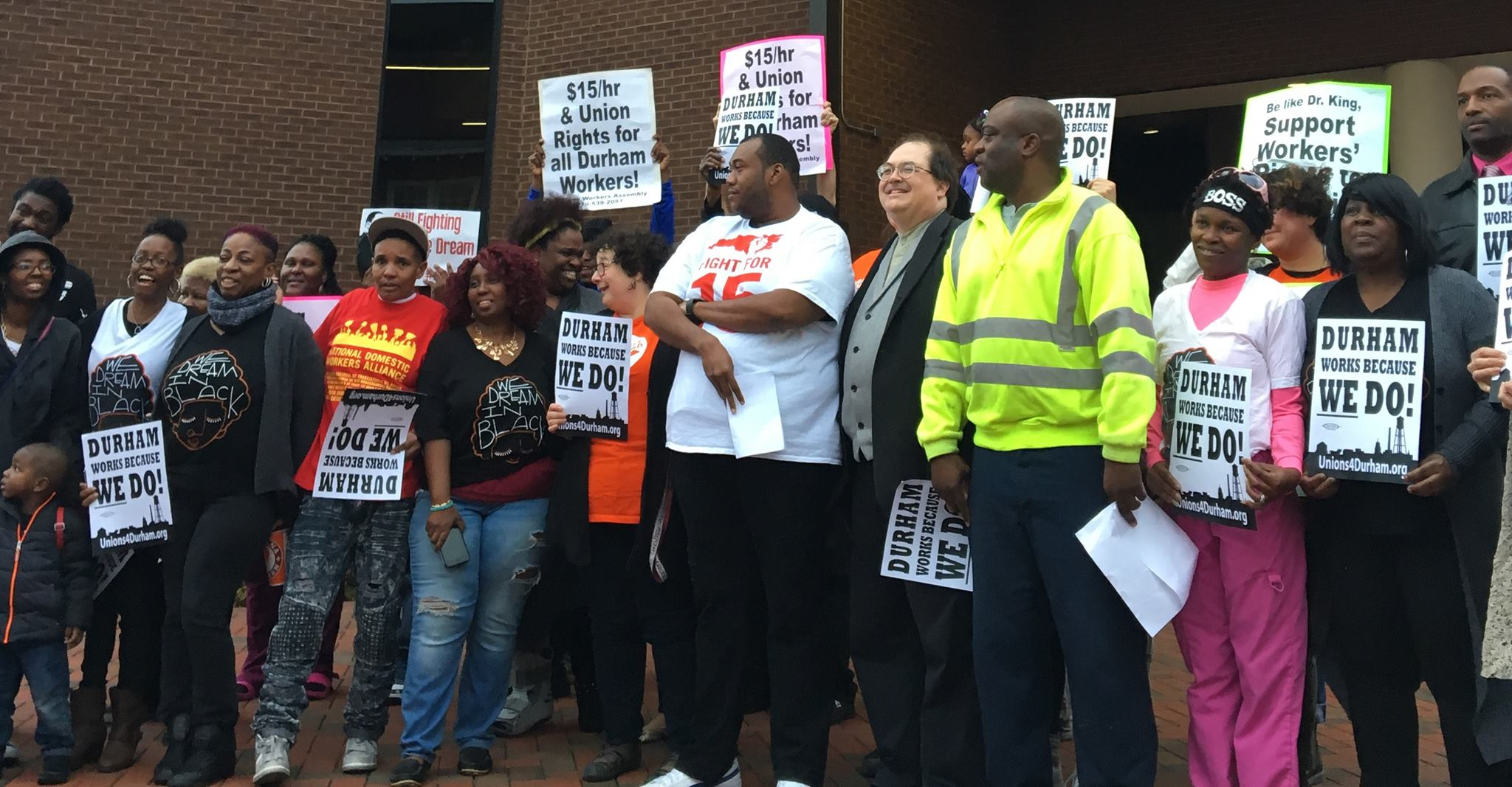 On eve of Martin Luther King's Day, workers from across industries united to demand Workers Commission